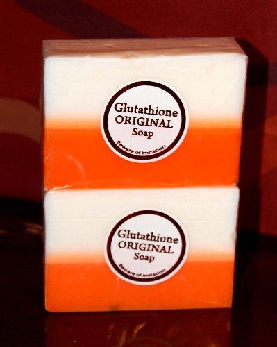 2 Bars acide kojique et glutathion double blanchissant / blanchiment savon Appx. 5 Oz Chaque