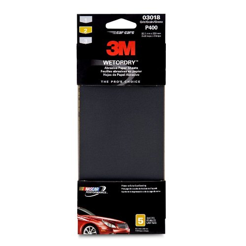 3M 03018 Imperial Wetordry 3-2/3'' x 9'' P400 Grit Automotive Sandpaper (Pack of 40) by 3M (Image #1)
