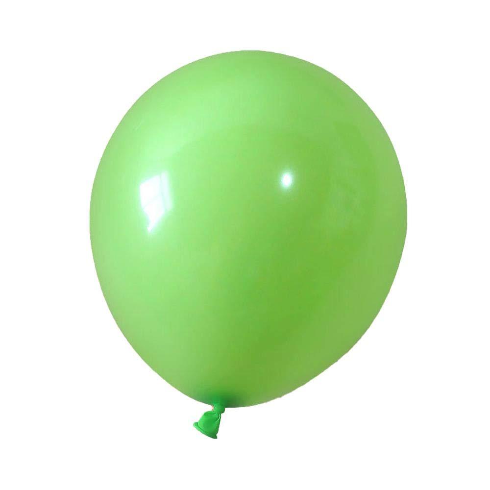100 Globos Verdes Claros Mate Redondos 2,2 G Engrosamiento ...