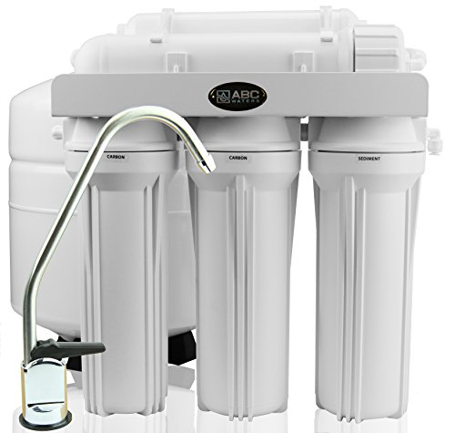 Nitrate Removal Water Filter (ABCwaters Built 5 Stage Reverse Osmosis Drinking Water Filter Systems [50 GPD Capacity] Includes Installation & Sanitizer Kit)