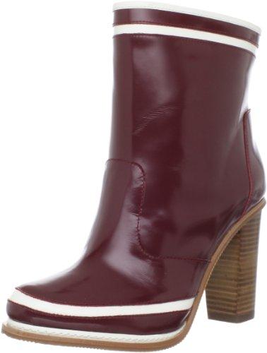 Diane von Furstenberg Women's Spa Ankle Boot,Bordeaux Spazzolato/Talc Spazzolato,6 M US by Diane von Furstenberg