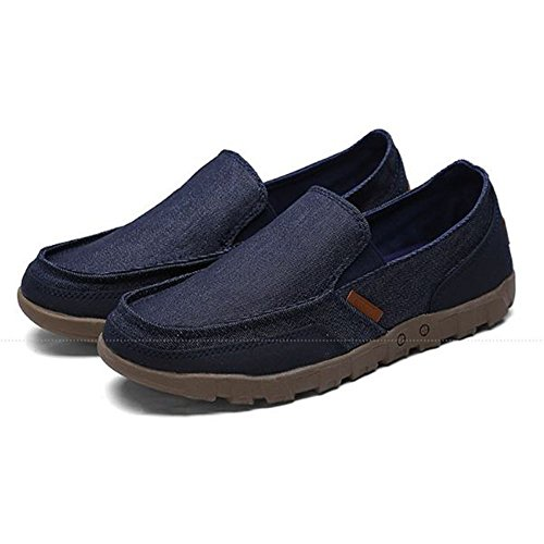 Lona al Resistentes y Desgaste Antideslizantes de Hombres Azul Zapatos Ocasionales Verano de para 5w6xYqYU1