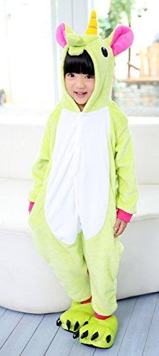 iPerry Green Pajamas Animal Halloween Unisex Costume GreenUnicorn Children Kids Onesie rwfrpq
