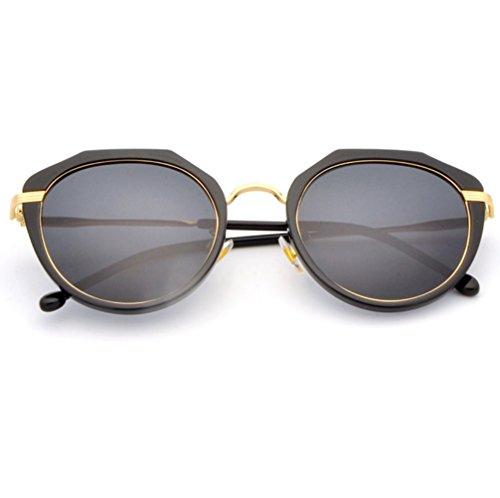 Colores de de Sol de 3 Montura Gafas Mujer de UV YANJING con Sol polarizadas Sol Mujer Gafas con Protección Gafas Gafas Sol de Color de Cuatro Completa 3 ZYXCC aTYqUS