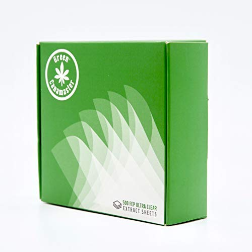 Non Stick FEP Ultra Clear 4x4 Sheet for Canabis Oil Packaging Terpene Proof 500 Pack by Green Canamaster