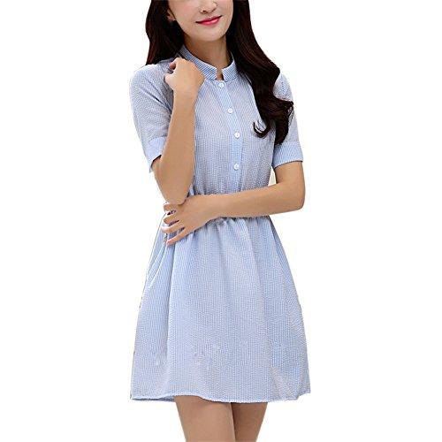 Linen Striped Dress - 4