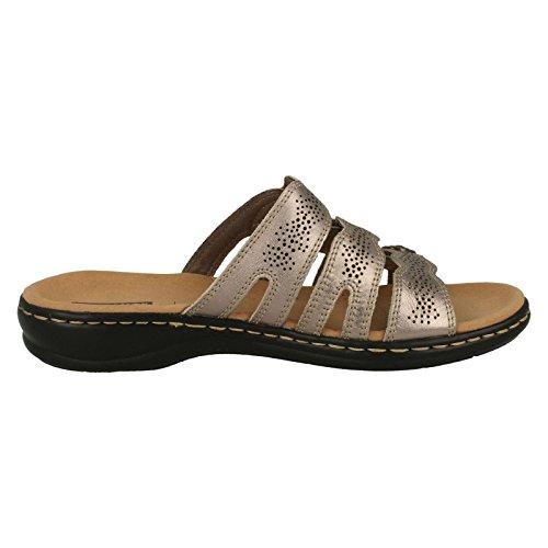 Pewter Aperte Clarks sulla Caviglia Metallic Donna a4Tnq1