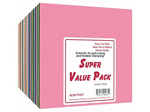 Accent Design Paper Accents ADP99990 Super Value Variety Pack 6x6 300 Piece Cardstock by Accent Design Paper Accents