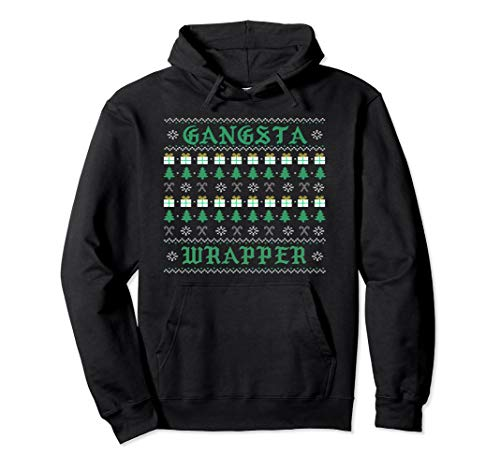 GANGSTA WRAPPER hoodie Funny Santa Ugly Christmas sweater