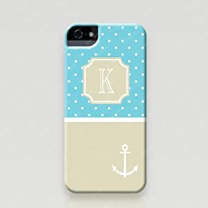 Froolu ? Personalized iPhone 5 and 5s Case - Polka Dots & Anchor design available in tough case and snap on case