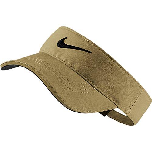 Golf Leather Visor - Nike Golf Tech Tour Adjustable Visor (Khaki/Anthracite/Black)