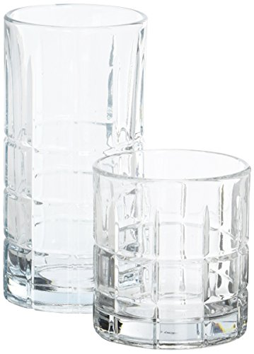 Anchor Hocking Manchester Small and Large Drinking Glasses, 16-Piece Glassware - Glass Usa 2 Piece Rock