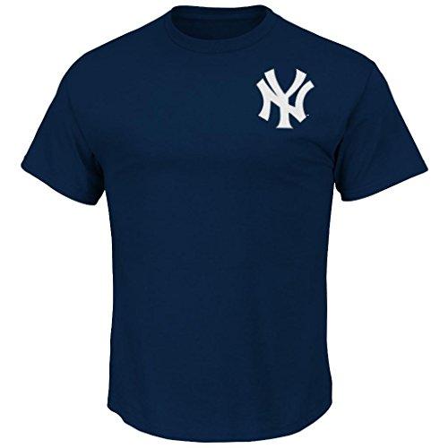 MLB Men's Team Wordmark II Cotton Crew Neck T-Shirt (Large, New York Yankees)