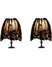 Auch 2Pcs Halloween Lamp Shade Cover Decoration, Black Lace Ribbon Spider Web Lampshades Cover Topper Scarf for Festive Party Indoor Decor Supplies, Large 20 X 60 Inch Spiderweb Lamp Shade Cover