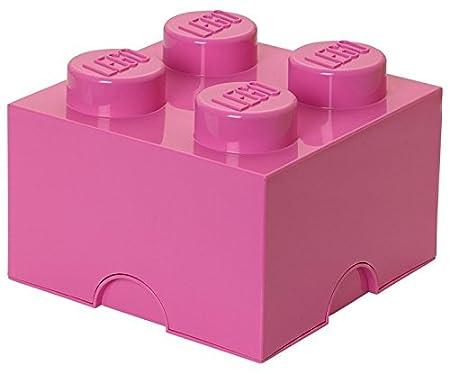 Lego Storage Brick 4, Bright Pink, Medium
