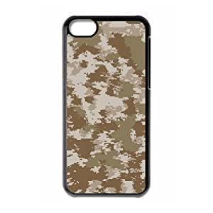 LZHCASE Diy Hard Shell Case Camouflage For Iphone 5C [Pattern-1]