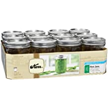 Kerr 518 Wide Mouth Jars with Lids and Bands, 16-Ounce, Set of 12