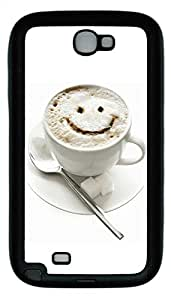 Samsung Note 2 Case Cup smiley TPU Custom Samsung Note 2 Case Cover Black