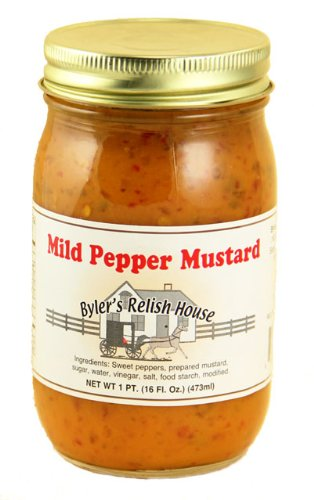 - Byler's Relish House Homemade Amish Country Mild Pepper Mustard 16 oz.