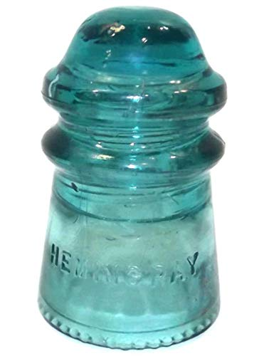 - Vintage Hemingray #9 Aqua Glass Telegraph Insulator with Air Bubbles