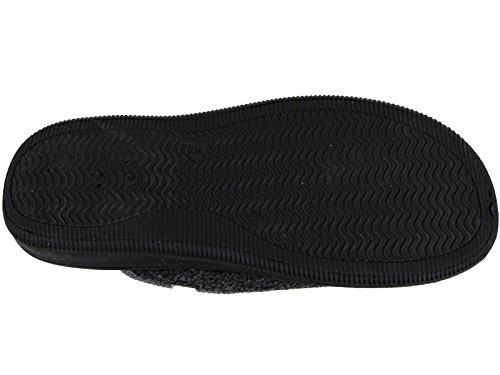Foster Footwear ,  Jungen Unisex Erwachsene Herren Damen Flache Hausschuhe Blk