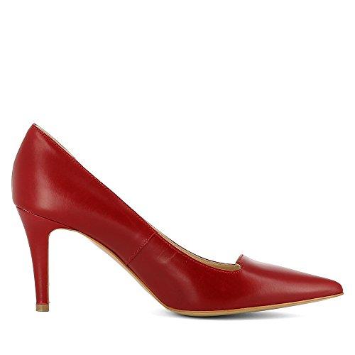Mujer Oscuro de Piel Shoes Rojo Zapatos para Vestir de Jessica Evita WxO8vBFB
