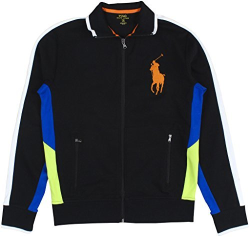Ralph Lauren Polo Men's Interlock Track Jacket Small Polo Black Multi