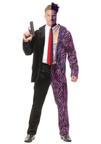 Charades Split Personality Costume, As Shown, Large