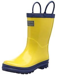 Hatley Boys' Yellow and Navy Rain Boots