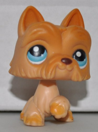 Scottie #249 (Orange, Blue Eyes) Littlest Pet Shop (Retired) Collector Toy - LPS Collectible Replacement Single Figure - Loose (OOP Out of Package & Print)