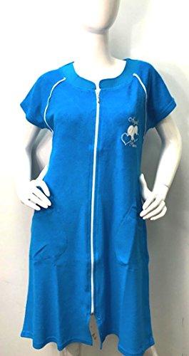 Brighton Robes Womens Turkish Terry Cotton Zipper Front Two Pocket Robe Sleepwear Beach Dress (XXXL, ()