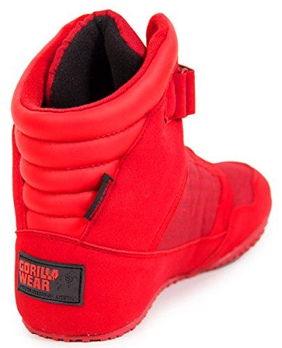 Usura Gorilla Alto Scarpe Bodybuilding Top Nero E Rosso Rosso-bianco