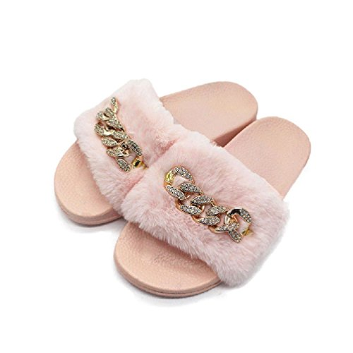 Jewelryfinds Fashion Women Home Imitation Fur Slipper Slip On Flat Rubber Girls Mules Sandals from Jewelryfinds Cothes