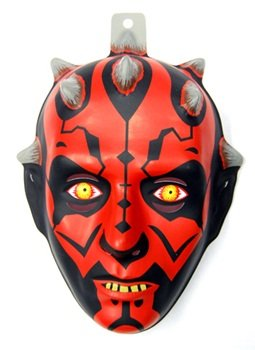 [Darth Maul Plastic Mask Child Accessory by Morris Costumes] (Child Darth Maul Costumes)