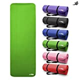 JLL Yoga Mat Extra Thick 15mm Non-Slip Pilates Workout (Green)