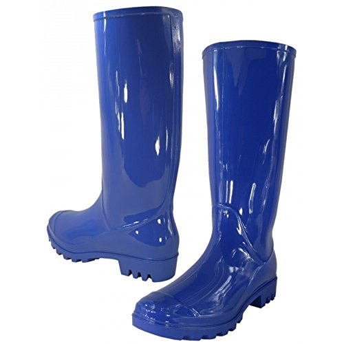 WearItti Rain Boots, Waterproof Shoes, Rubber Boots (9, Royal Blue)