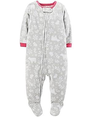 Baby Girls' Print Fleece Footie (Baby)!