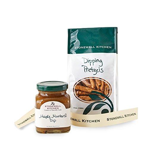 Stonewall Kitchen Pretzel Grab and Go Gift Set - Maple Mustard Pretzel Dip