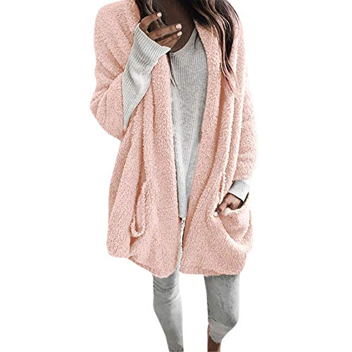 Preferential New Zlolia Women Autumn Long Sleeve Thick Hooded Open Stitch Coat Jacket Cardigan (Autumn Stitches)