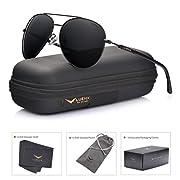 Amazon #DealOfTheDay: LUENX Aviator Sunglasses Polarized Mens Womens with Case - UV 400 Protection 60mm