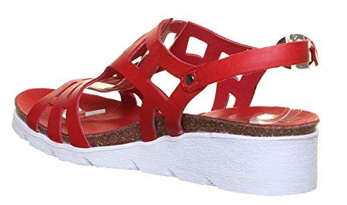 Felmini 8986 - Botas de Piel para mujer Rojo - Red LP2