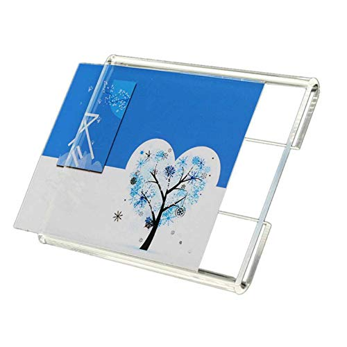 20PCS Wall Mount Acrylic Price Label Holder, Acrylic Sign Holder Counter Top Stand Display with Adhesive Tape Stick (Paper Size 3.15x4.72 ()