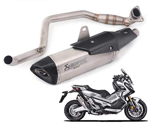 Fast Motorcycle Exhaust Pipe, Stainless Steel Hexagonal Scorpion Full  Exhaust Pipe for Honda X-ADV750 Rear Modification