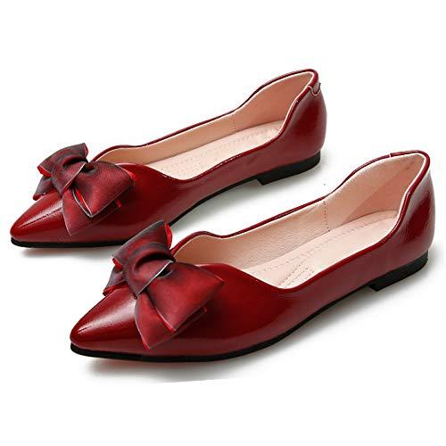 del la C Primavera de Zapatos Zapatos Antideslizantes cómodos La Baja la Planos Oficina señalan Planos Moda Trabajo de y otoño de Ocasionales el FLYRCX Boca 6RSqAw
