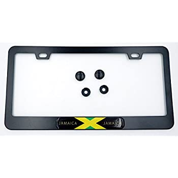 Jamaica Heavy Duty Stainless Steel Chrome License Plate Frame Car Tag Holder /… STHANCAT OF TAMPA