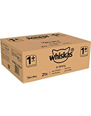 Save on Whiskas 1+ Cat Food Pouches Mixed Selection in Gravy, 100 g (Pack of 84) and more