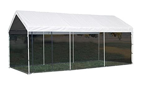 ShelterLogic 10x20 1 3 8quot 8 Leg Canopy With Screen Kit