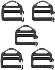 DYNWAVE 5 pcs 1 inch Strong Heavy Ladder Lock Slider Adjustable Webbing Strap Release Buckles for Backpack Spo