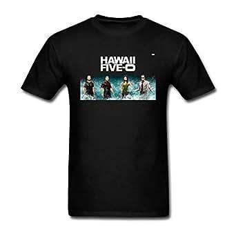 Kittyer men 39 s hawaii five 0 design cotton t for Hawaii 5 0 t shirt
