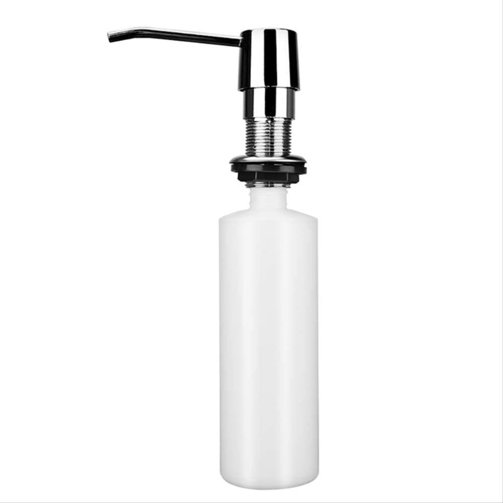 Wovemster Kitchen Sink Soap Dispenser ABS Plastic Built in Lotion Pump Plastic Bottle for Bathroom and Kitchen Liquid Soap Organize 300ml A